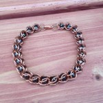 Bead Capture Bracelet Copper Magnetic Hematite