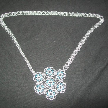 Celtic Flower Pendant Necklace