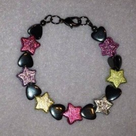 Stars and Hearts Childrens Bracelet