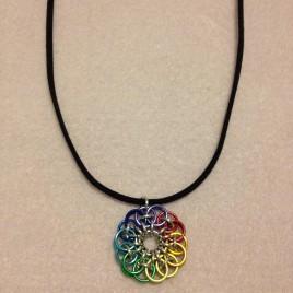 Chakra Colours Celtic Flower Necklace