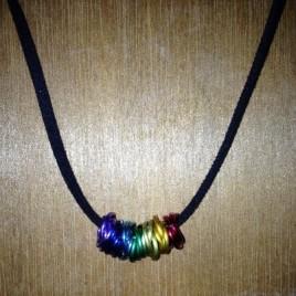 Chakra Colours Rosette Necklace