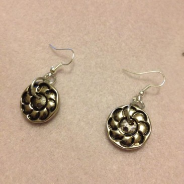 Flower Button Earrings