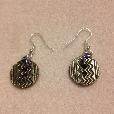 ZigZag Button earrings