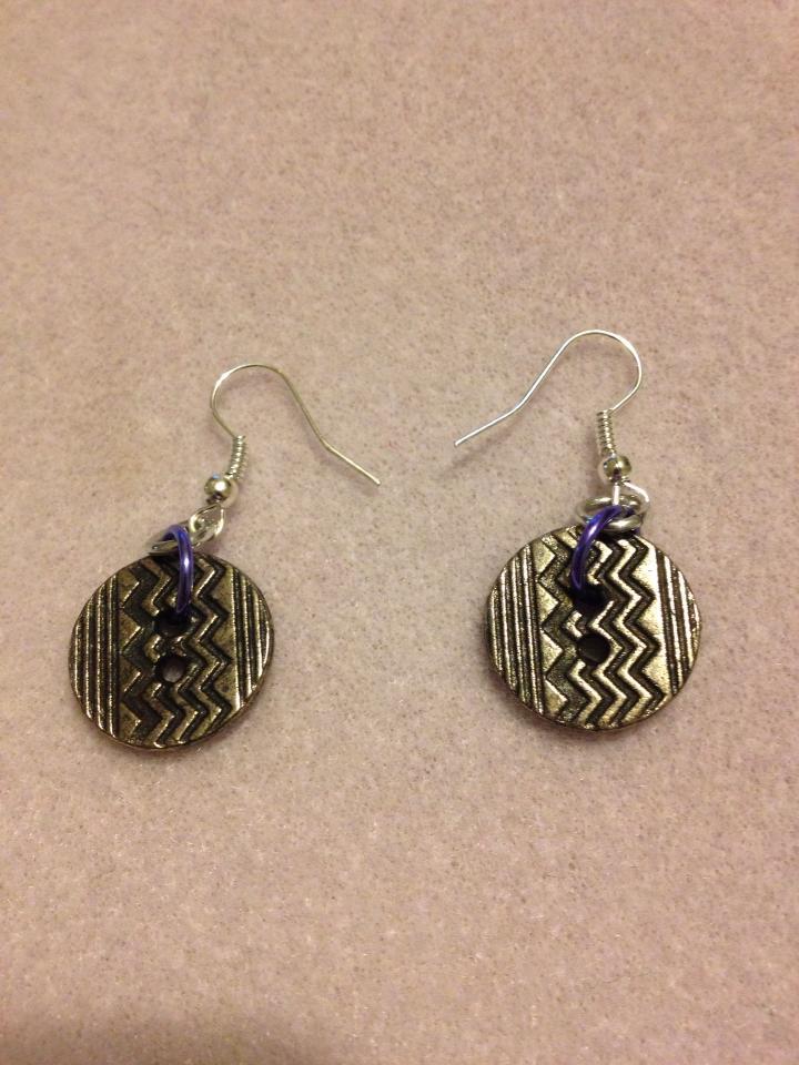 ZigZag Button earrings