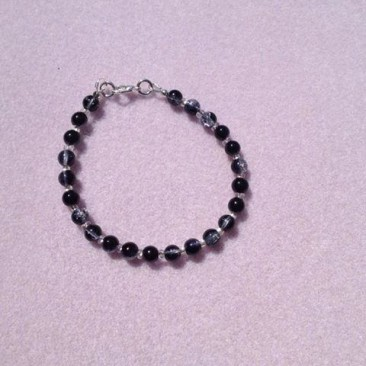 Black and Clear  Bracelet