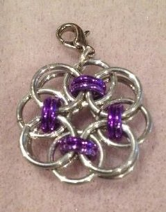 Celtic Flower Clip-on Pendant
