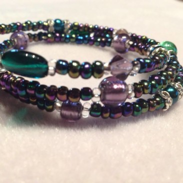 Fun with purple and green bracelet