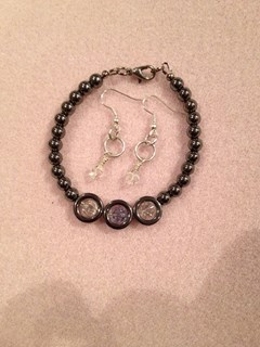 Swarovski and Hematite Set