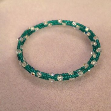 Swarovski Crystals and seed bead wrap bracelet
