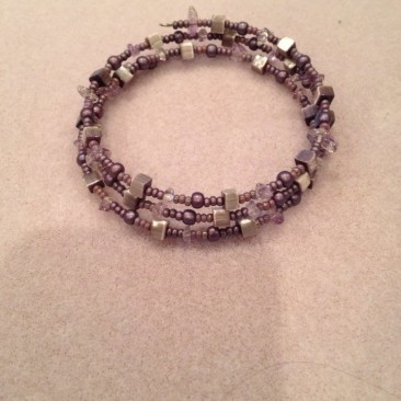 Another Purple Wrap Bracelet