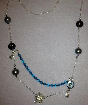 Custom ordered Necklace with clip on colour