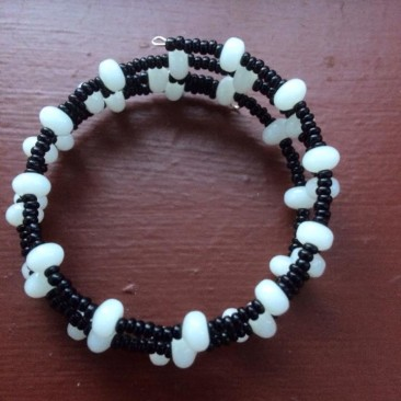 Black and White Wrap Bracelet Latest Version