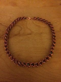 Copper and Magnetic Bead Capture Necklace