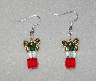 Crystal Christmas Present Earrings