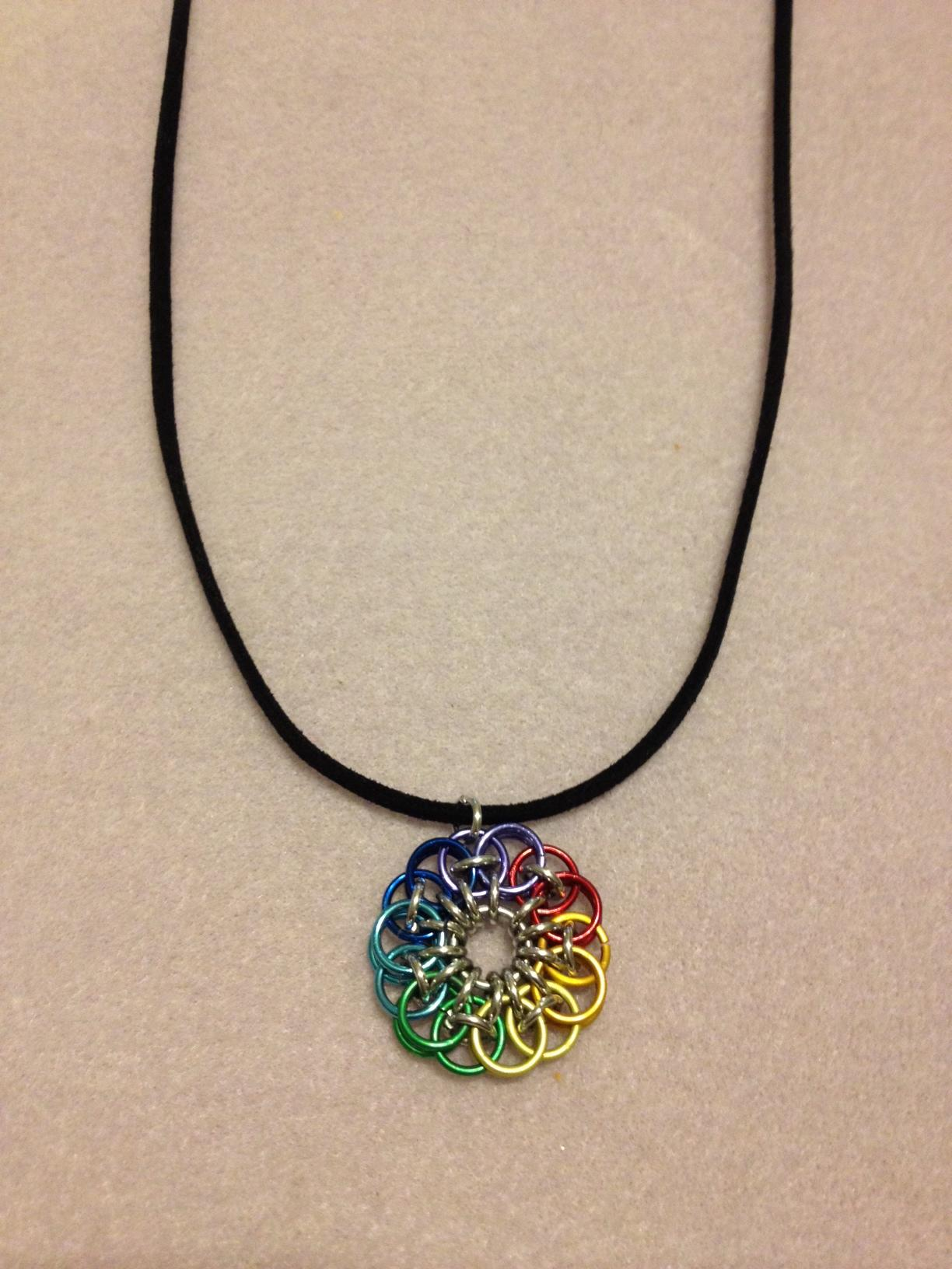 Chakra Colours Celtic Flower Necklace