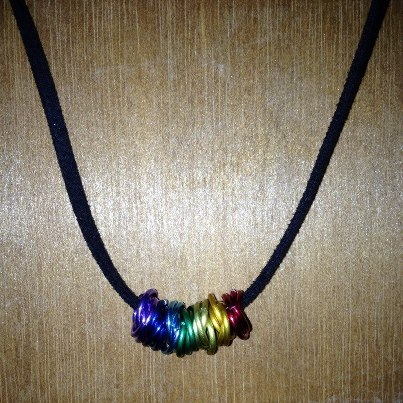 Chakra Colours Rosette Necklace