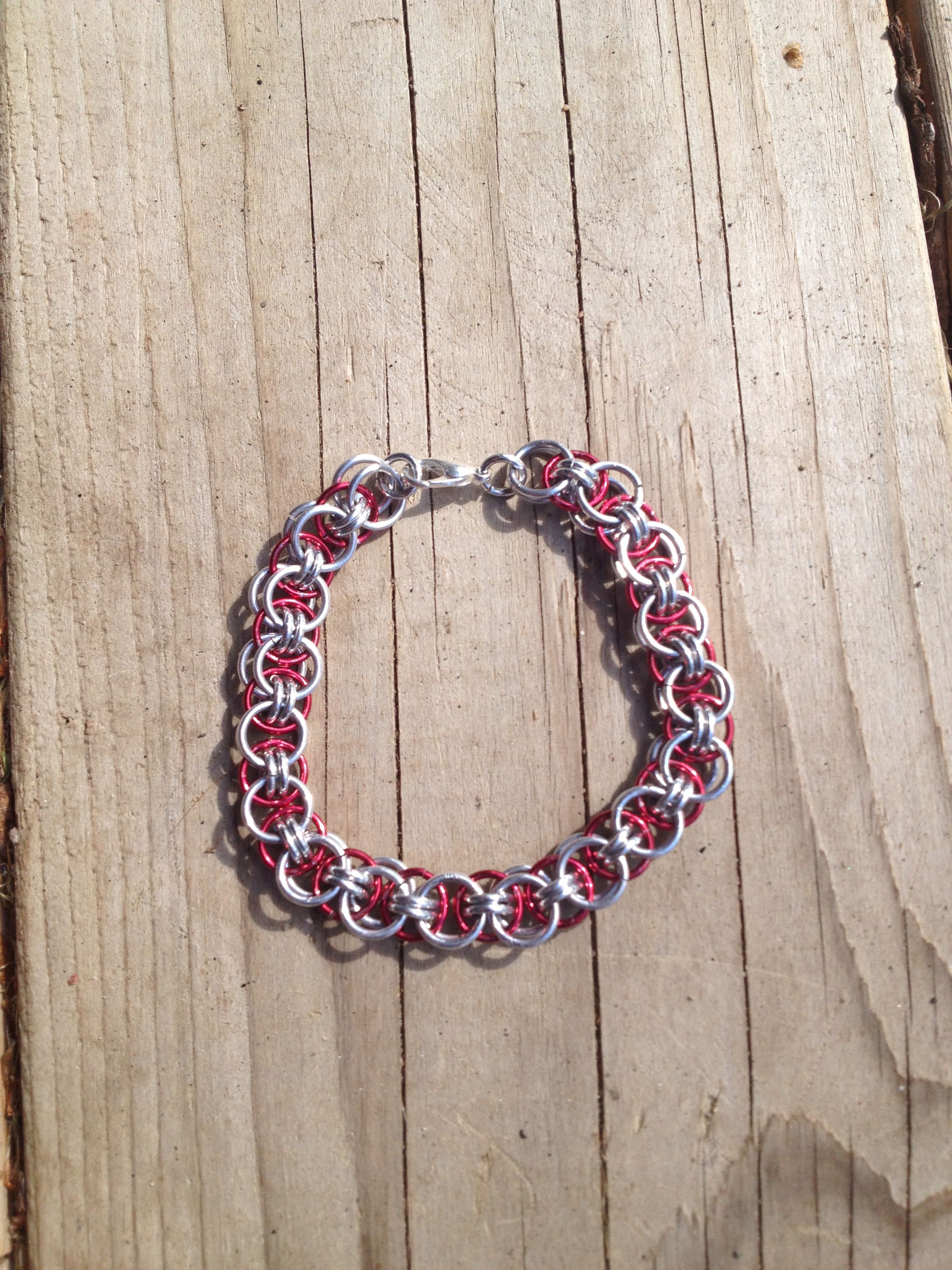 Helm Chain Bracelet Red