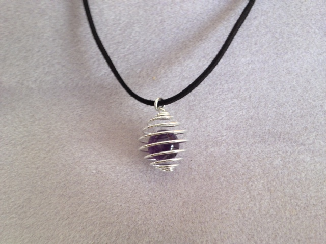 Caged Marble Necklace