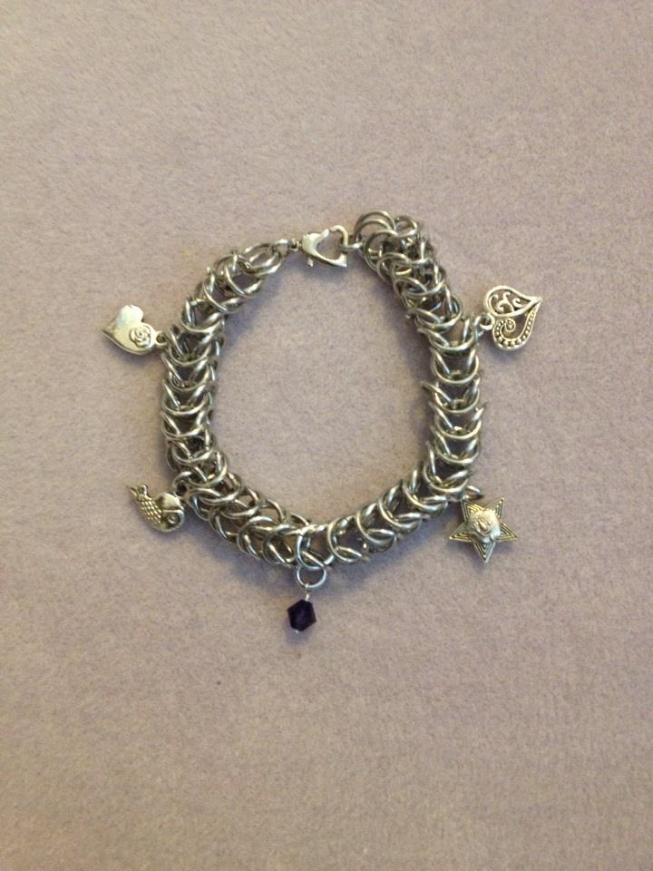 Box Chain Charm Bracelet