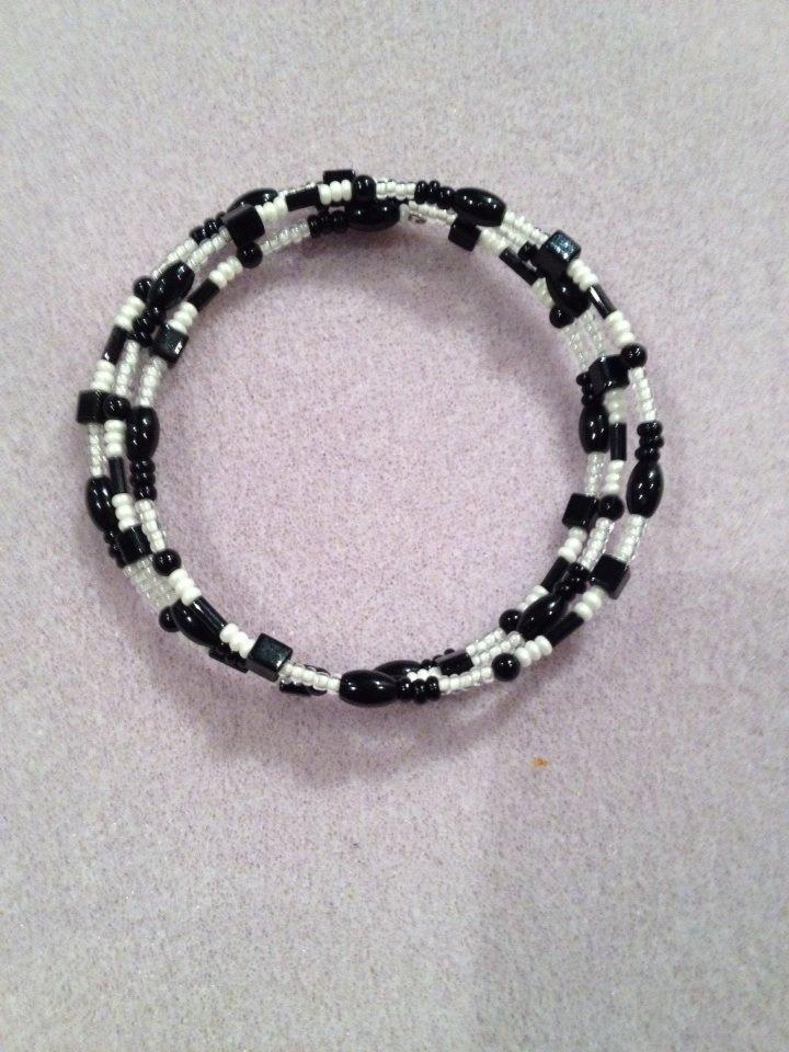 Wrap Bracelet Black and White