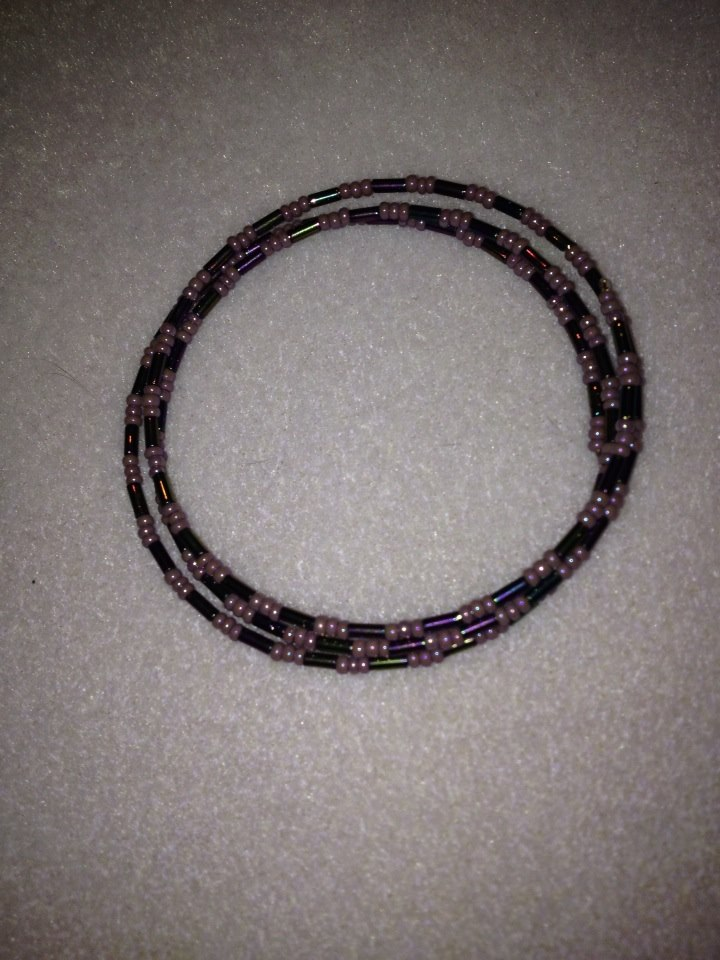 Pearly Purple Wrap Bracelet